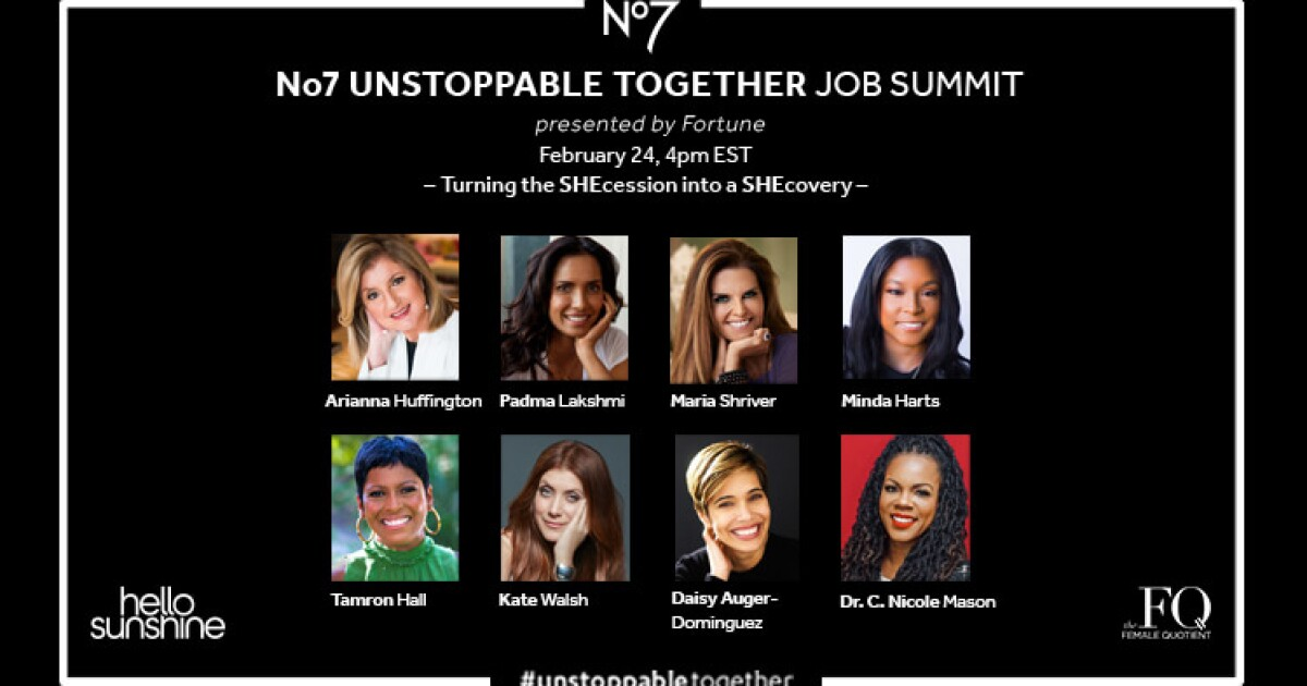 'Unstoppable Together' summit will help women driven out of the workforce by COVID-19