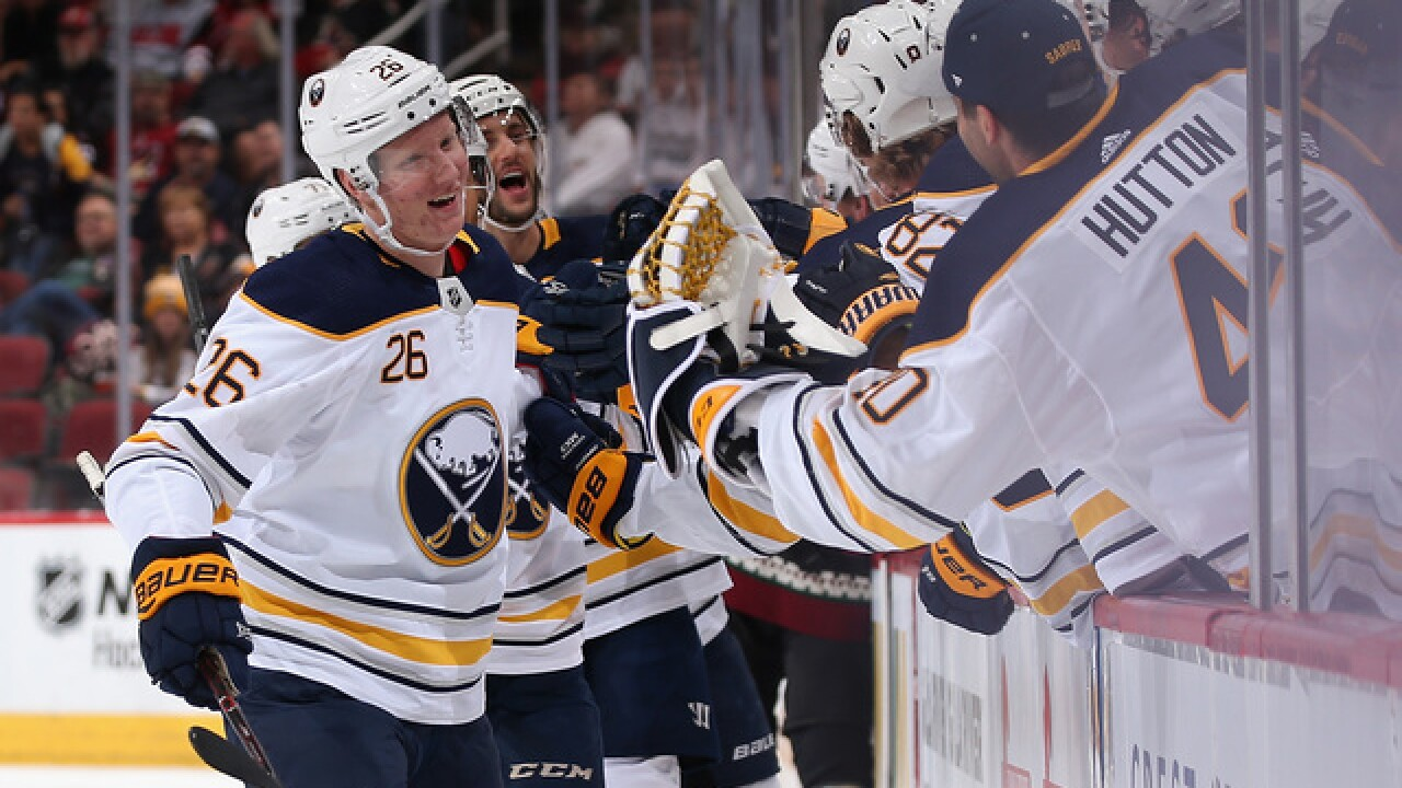 A night of firsts for Dahlin and Ullmark as Sabres beat Coyotes 3-0
