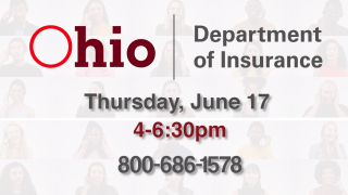 Ohio Department of Insurance Phone bank on June 17 from 4-6:30 p.m.