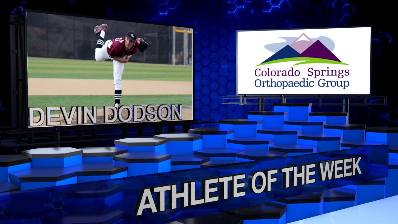 KOAA Athlete of the Week: Devin Dodson, Cheyenne Mountain Baseball