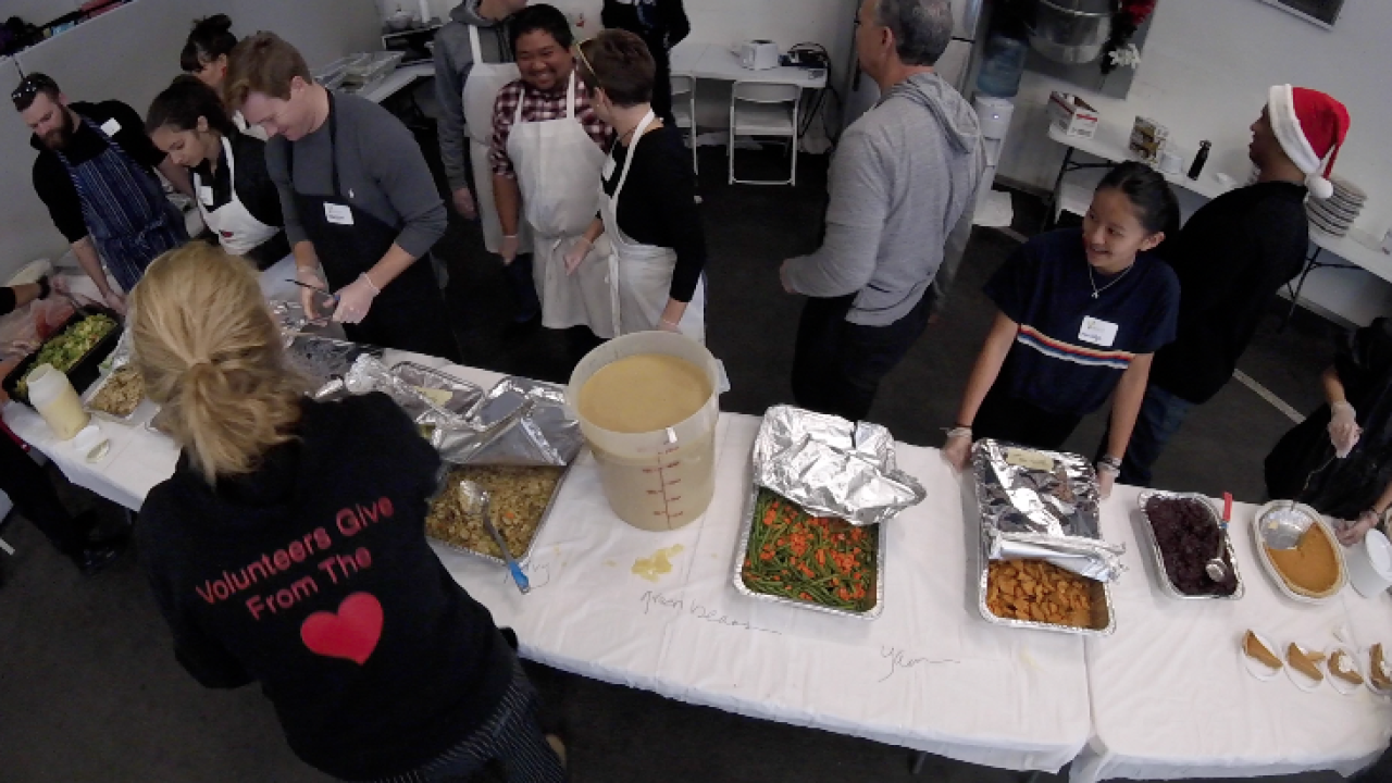 San Diego chefs and volunteers serve food to homeless