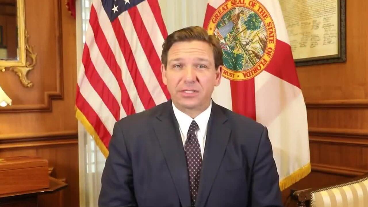 Florida Gov. Ron DeSantis announces new COVID-19 vaccine eligibility requirements on March 25, 2021