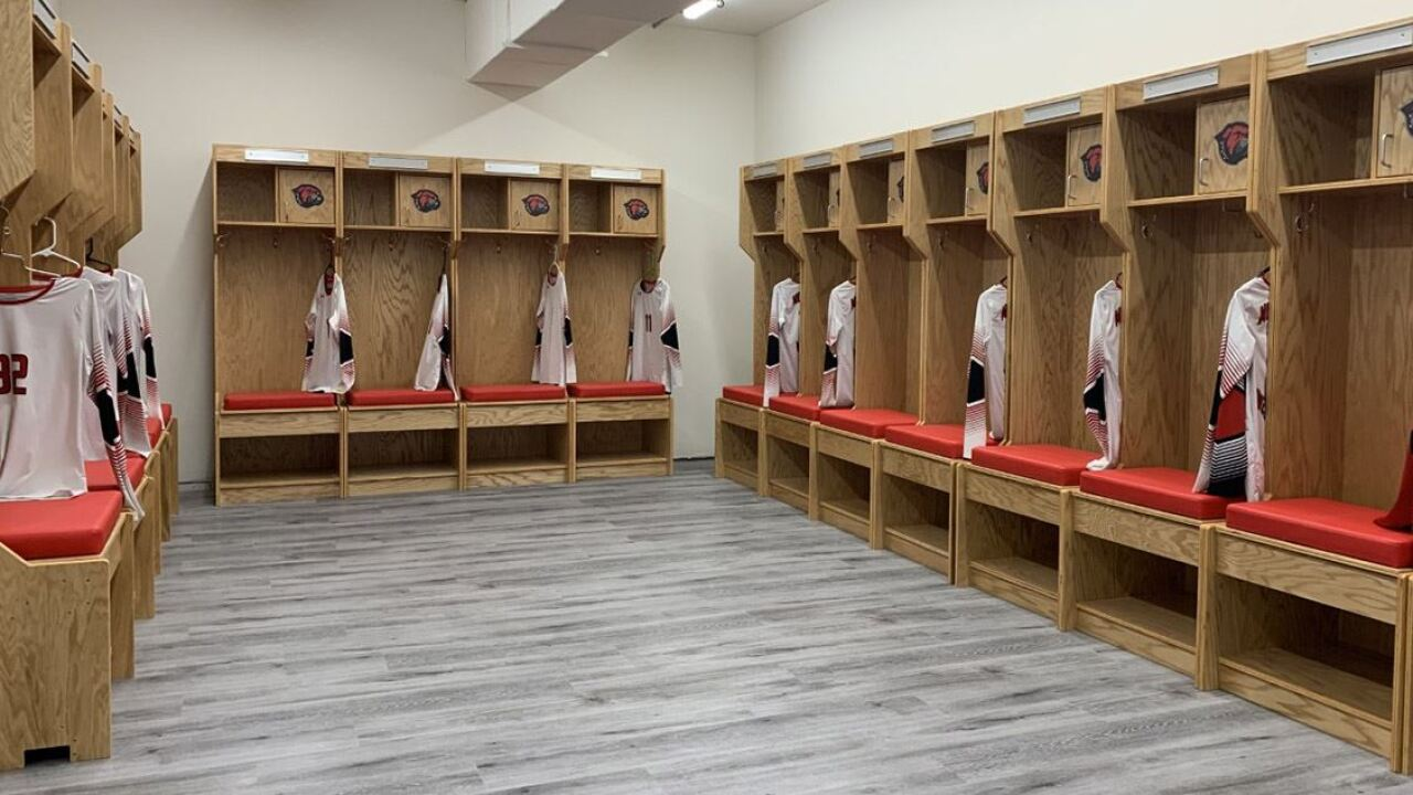 Montana Western volleyball locker room