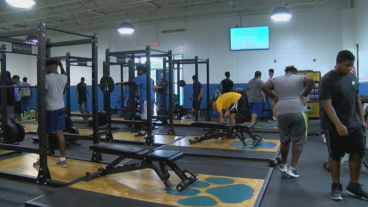 Godby High Schools Breaks In New Weight Room