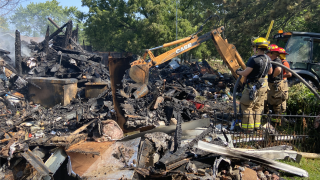 Fire departments search for homeowner after house fire near State Road