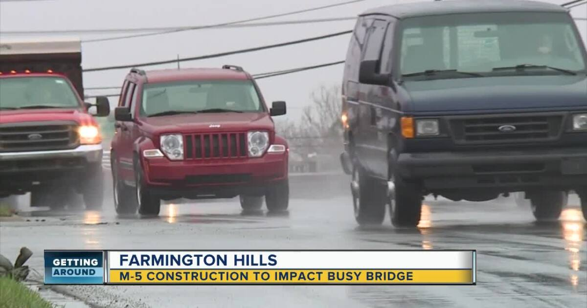 Repairs to Grand River Ave. bridge over M-5 begin Monday
