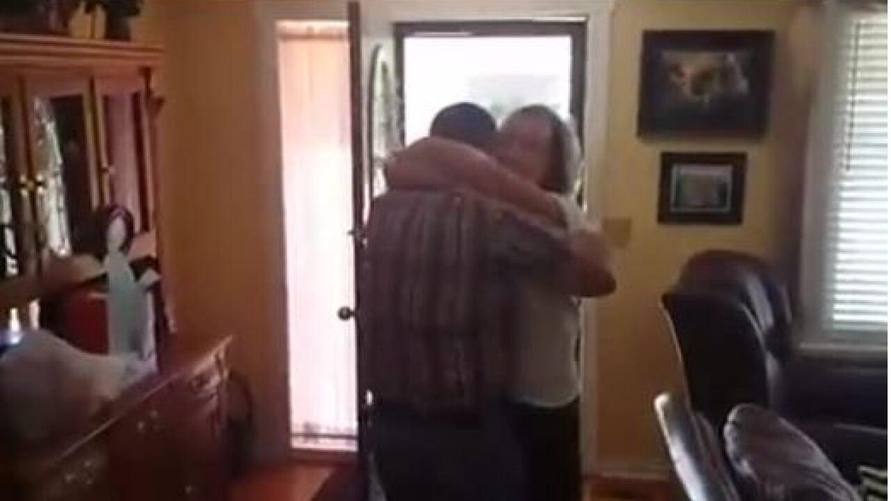 'Hey Mom!' Soldier surprises West Jordan woman after 4.5 yearsaway