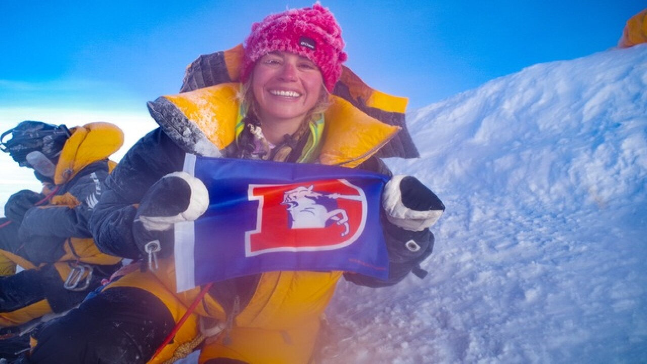 Woman climbs Mt. Everest on 'seven summit' quest