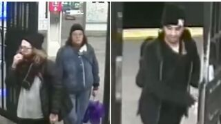 subway protest surveillance image