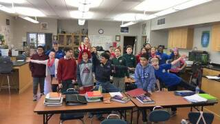 Weather visit to St. Paul Catholic School