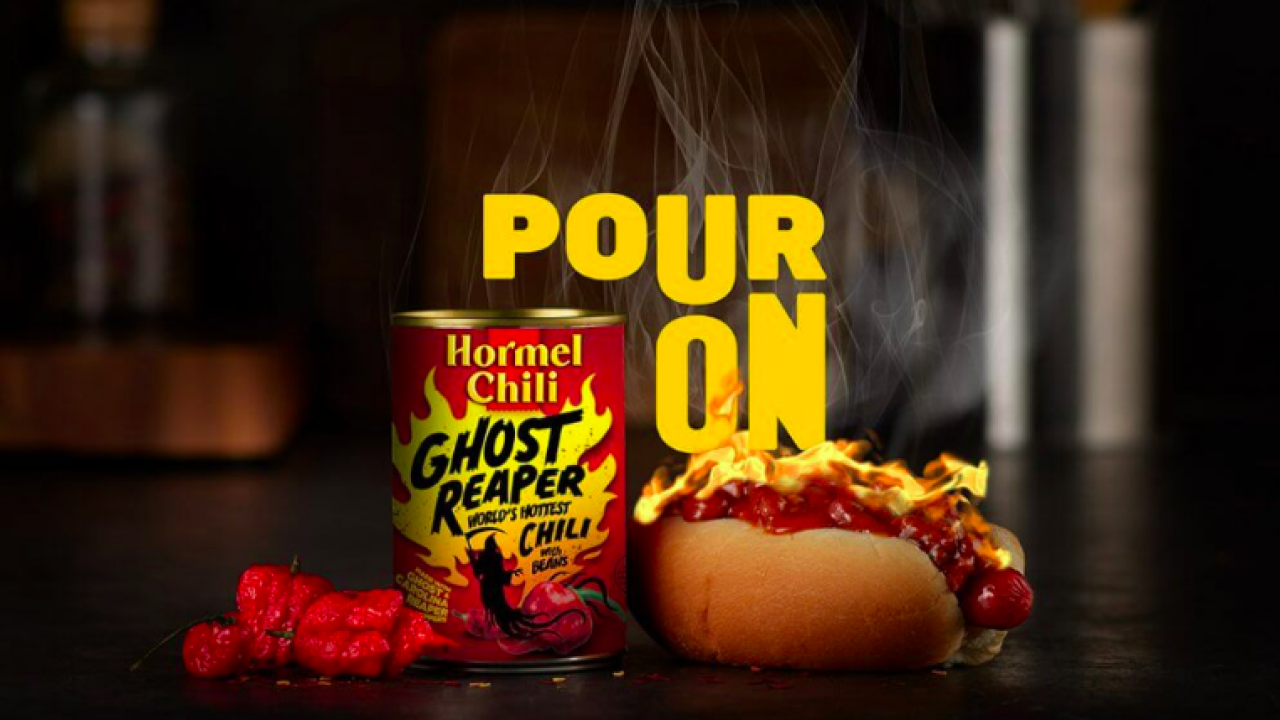 Hormel unveils Ghost Pepper Chili, deemed it 'world's hottest chili'