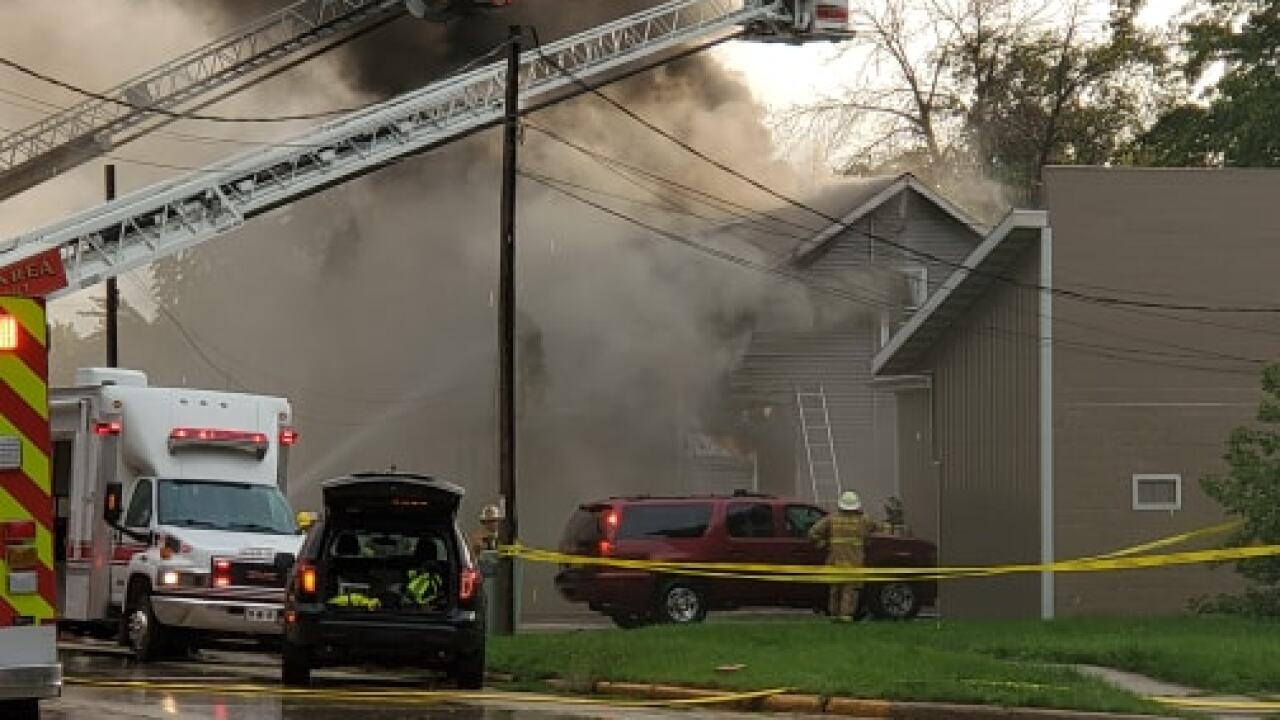 Two people missing after a residential fire in Fond du Lac