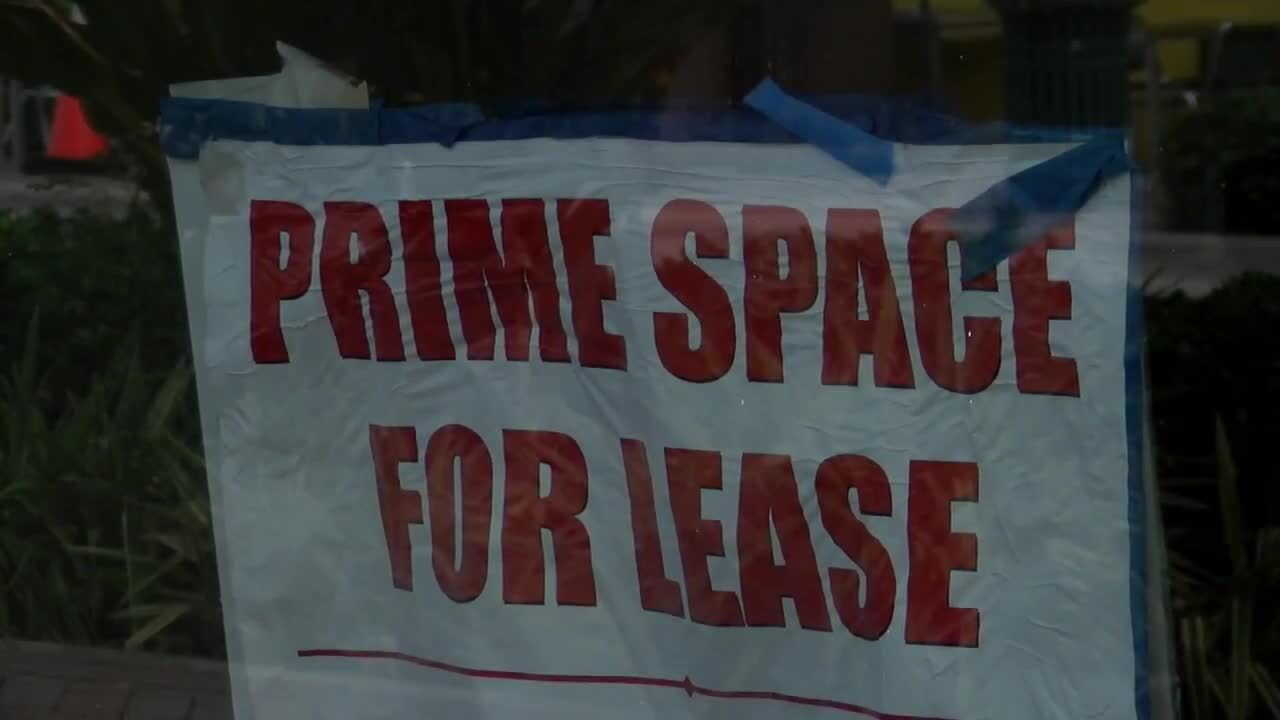 'Prime Space For Lease' sign in downtown Delray Beach