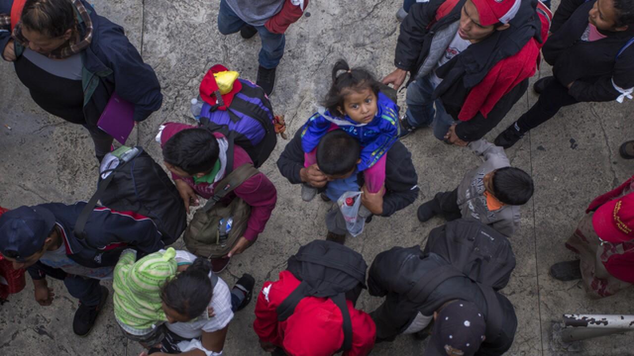 PHOTOS: Migrant caravan makes way to U.S-Mexico border