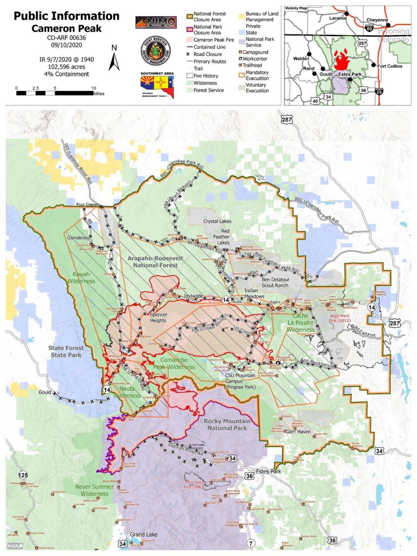 cameron peak map