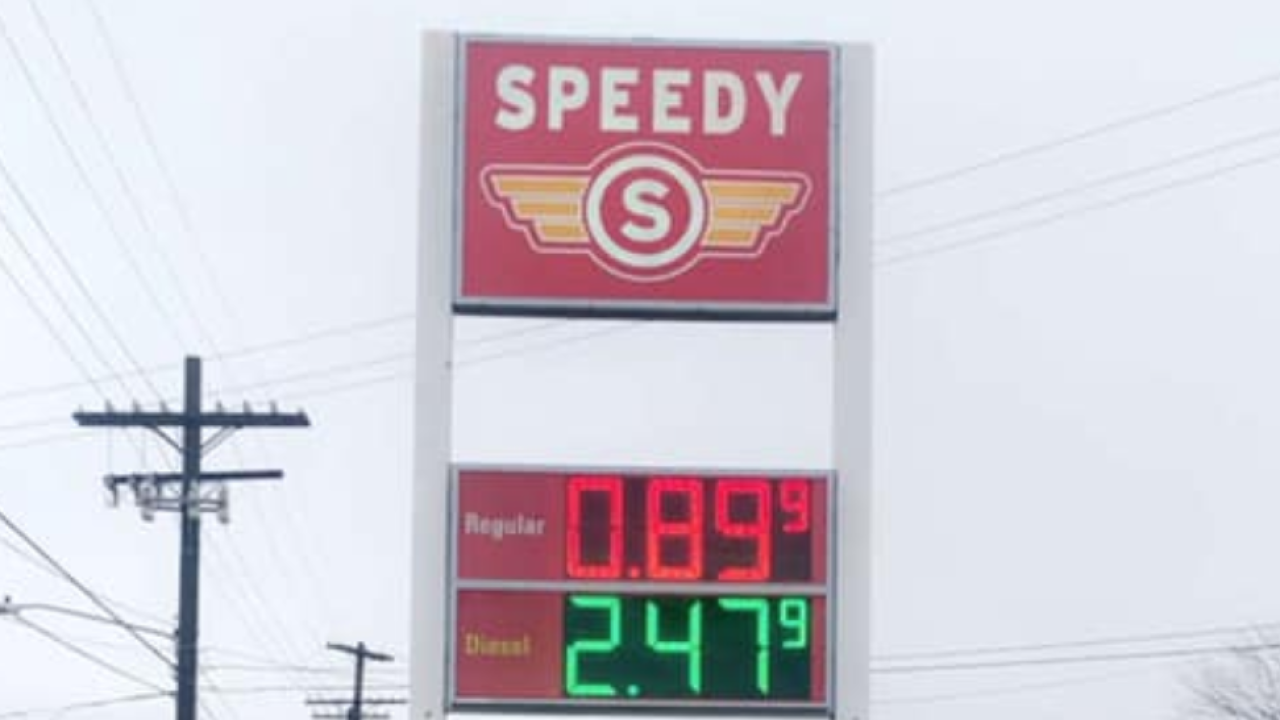 Speedy Grub Shack low gas prices