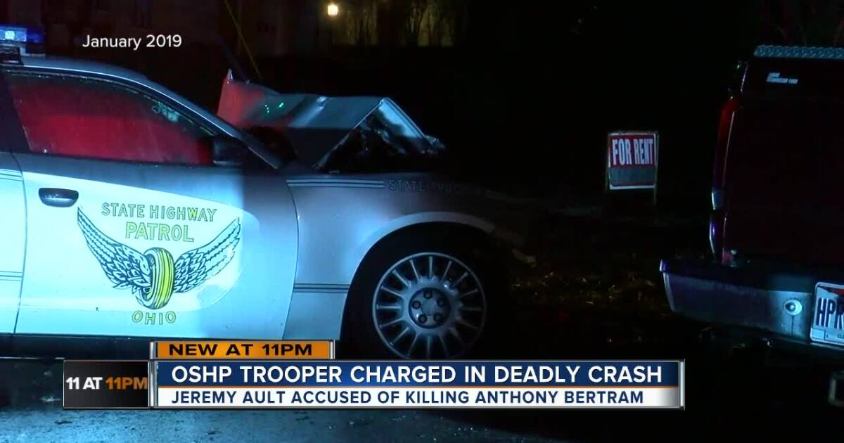 Ohio state trooper charged with manslaughter, homicide after fatal