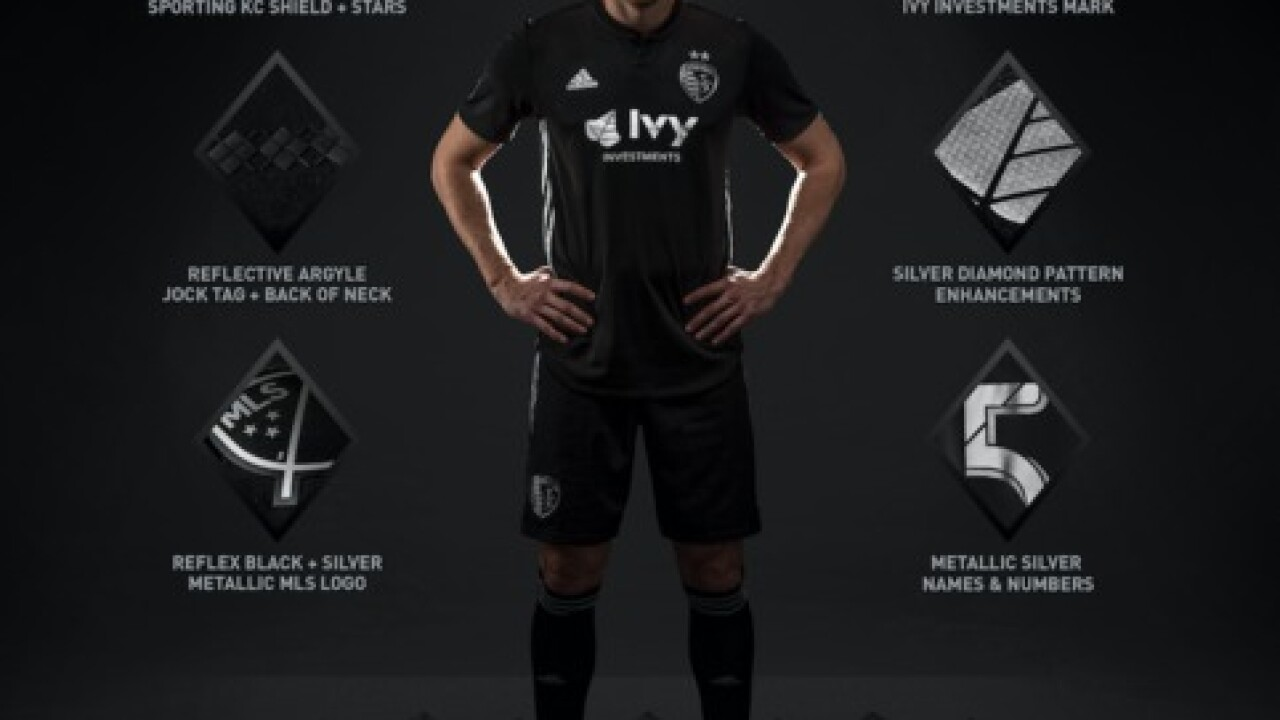 check out 5fcce f3109 Sporting KC unveils secondary jerseys, black with metallic ...