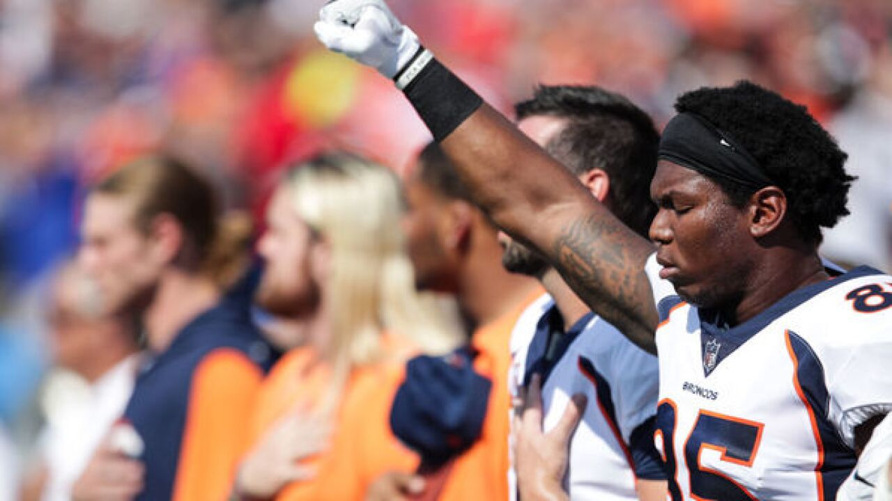 Denver Broncos say they will 'stand together' for national anthem