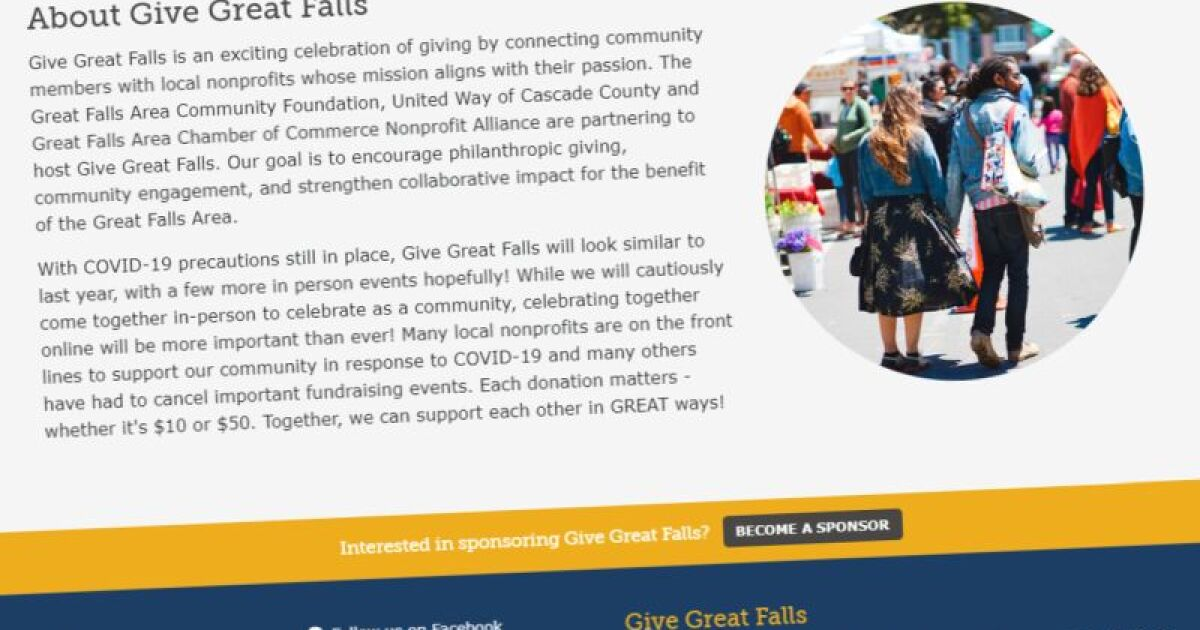 "Non-profits can now register for the annual ""Give Great Falls"" event"