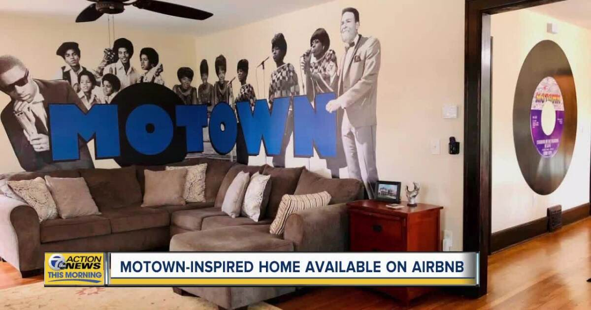 You can book an Airbnb stay at a 7-bedroom Motown-inspired home