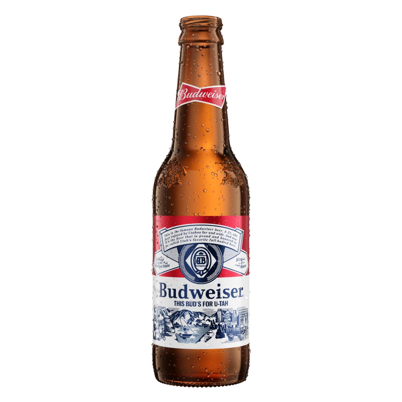 Utah Budweiser Bottle