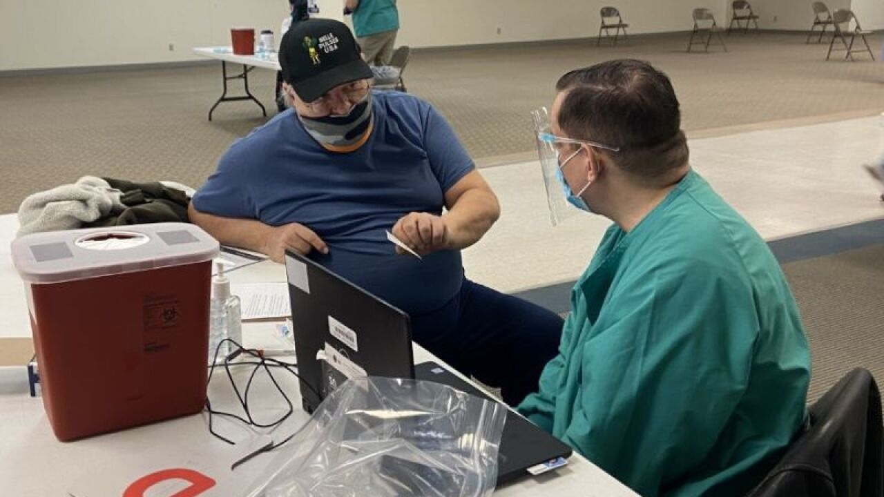 Military veterans receive COVID vaccine in Havre
