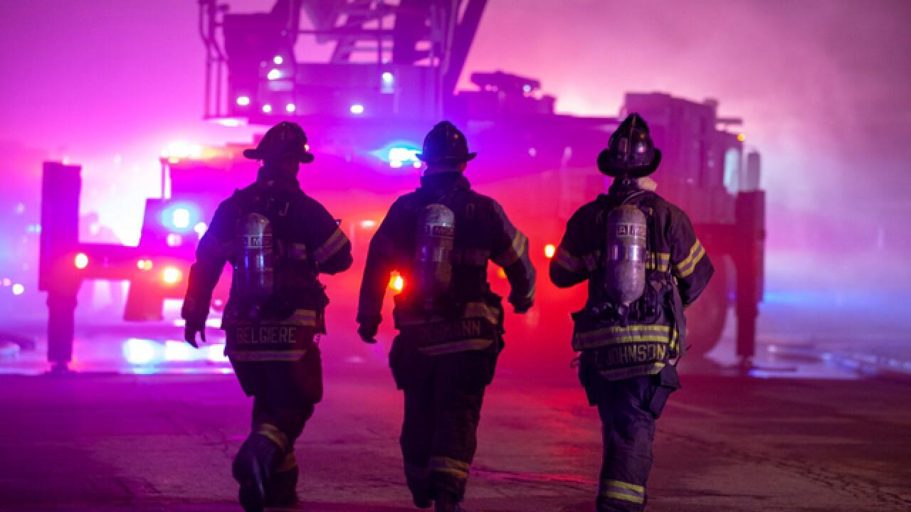 Crews battle two-alarm church fire