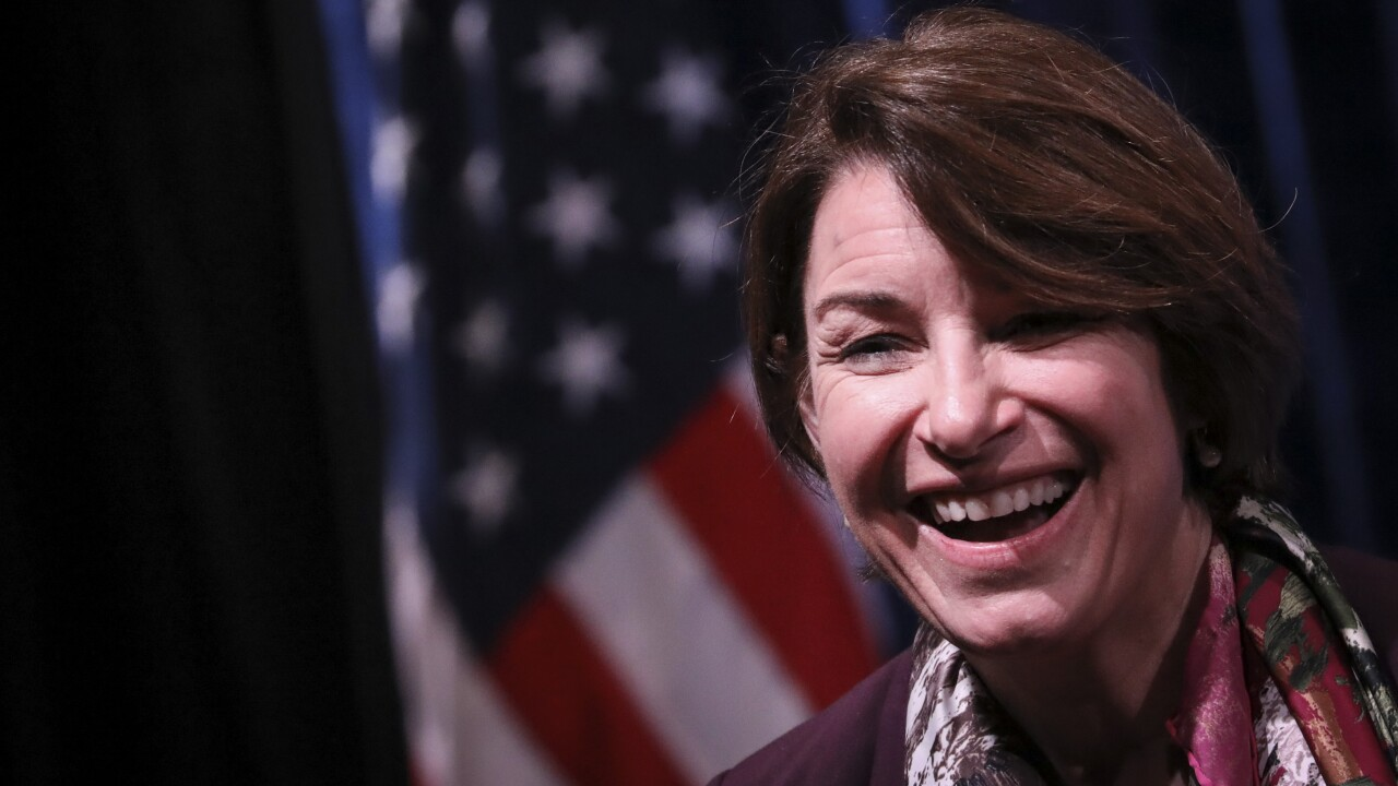 Amy Klobuchar Participates In Town Hall With American Federation Of Teachers