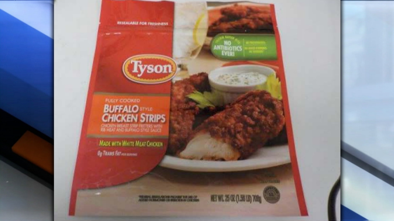 Tyson recalls more than 69K pounds of chicken strips that may contain metal pieces