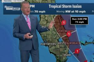 5 p.m. advisory on Tropical Storm Isaias