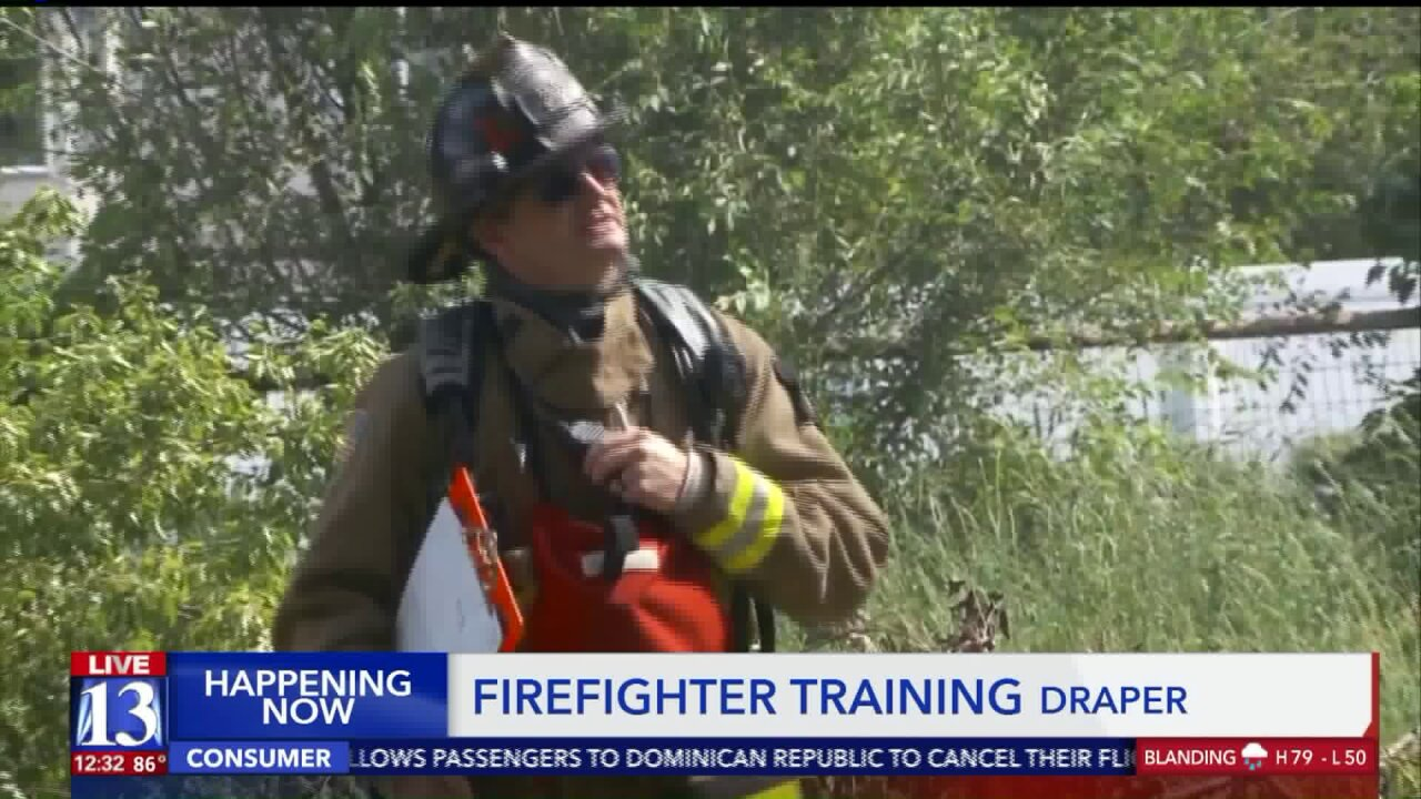 Firefighters use abandoned home for training