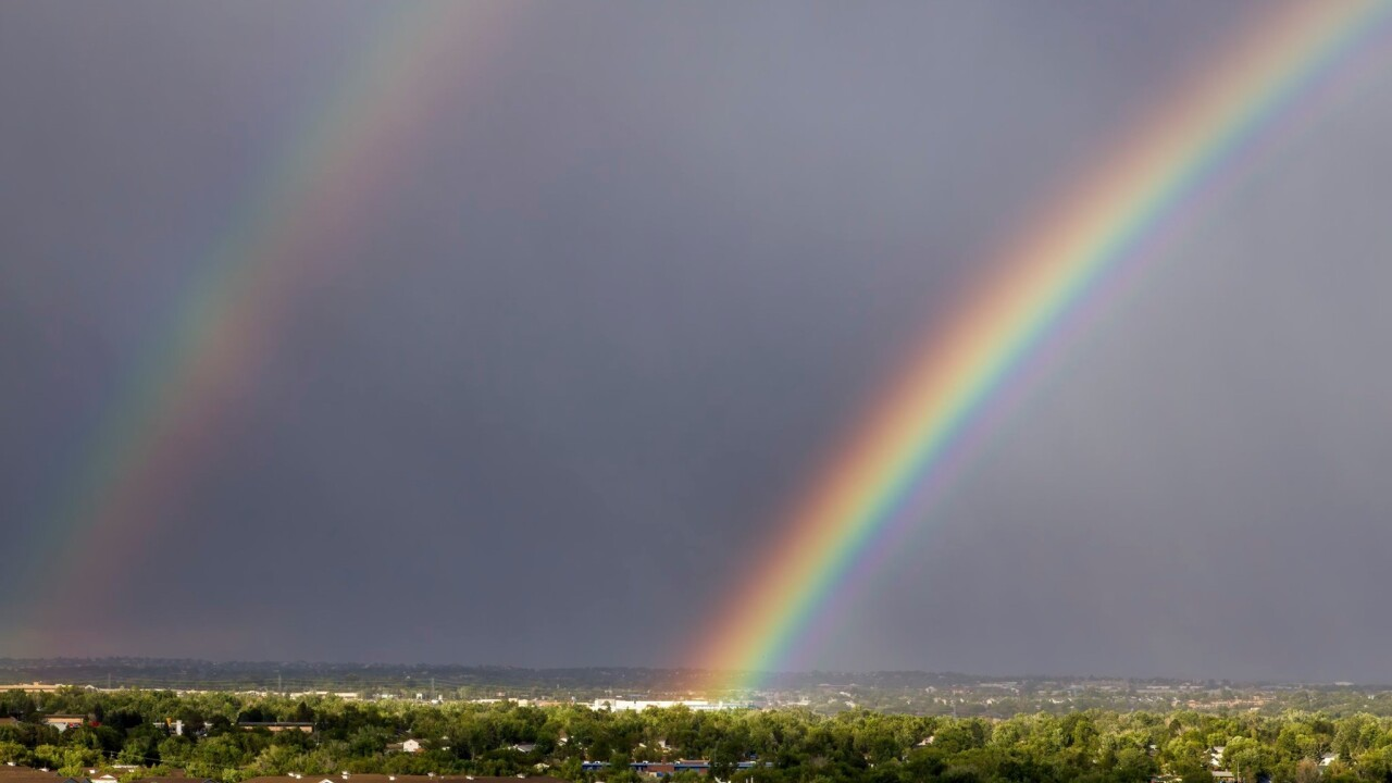 Larry Marr double rainbow Colorado Springs