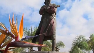 Christopher Columbus statue at California park vandalized on Columbus Day