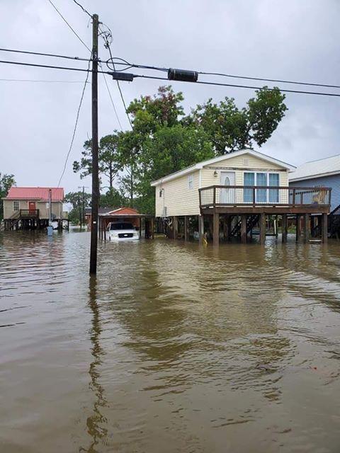 Delcambre flooding - Courtesy Belle Romero