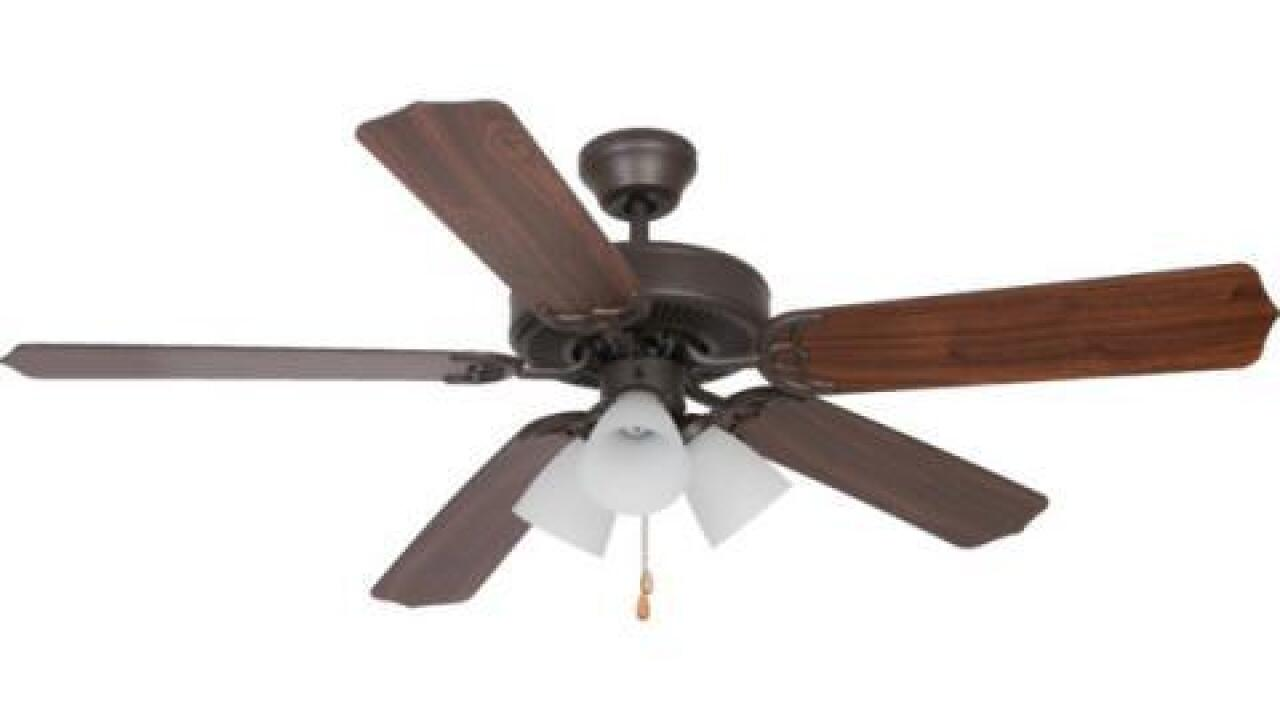 Ceiling fans recalled because blades can fly off