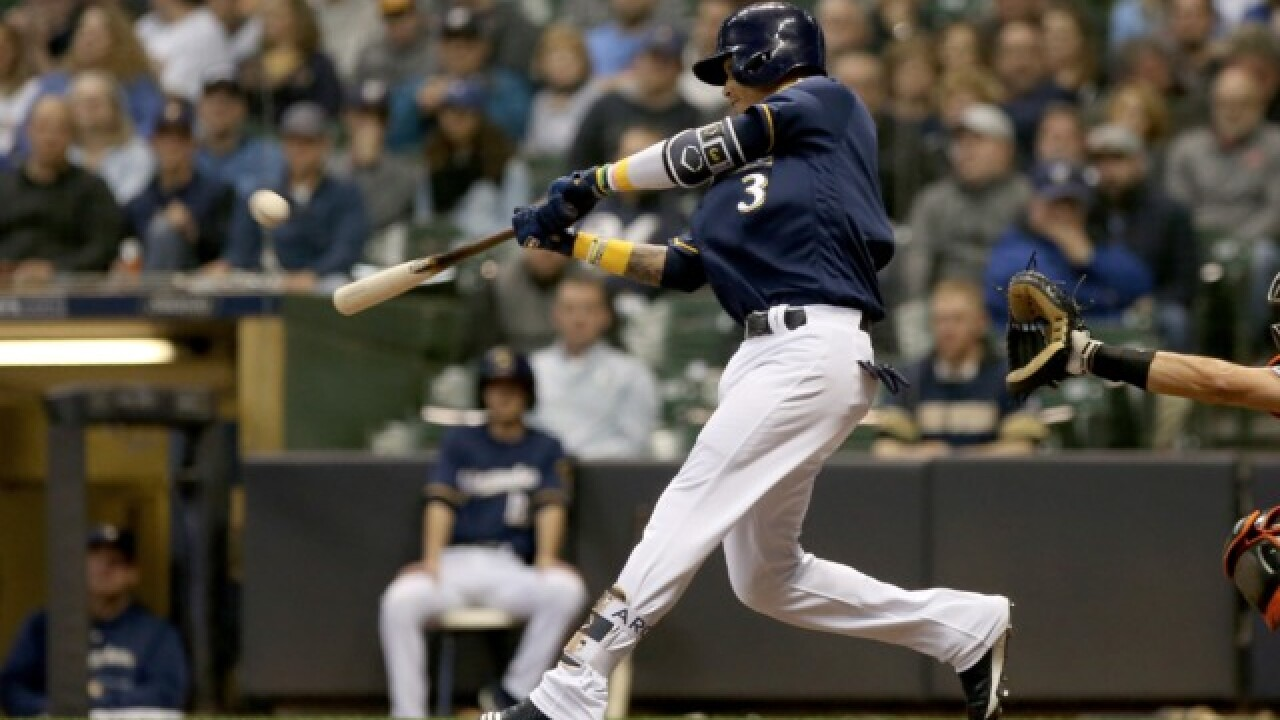 Brewers' Orlando Arcia hits game-winner in return from the minors
