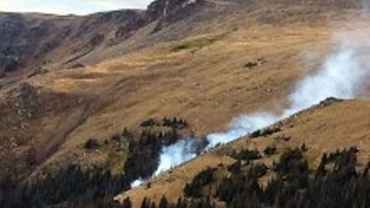 Two fires break out at Rocky Mountain National Park Thursday evening