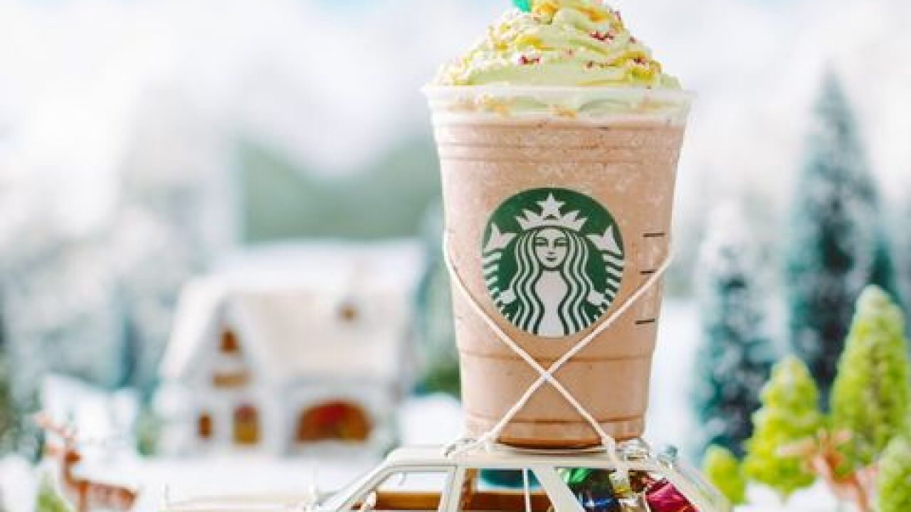 "Starbucks releases ""Christmas Tree Frappuccino"""