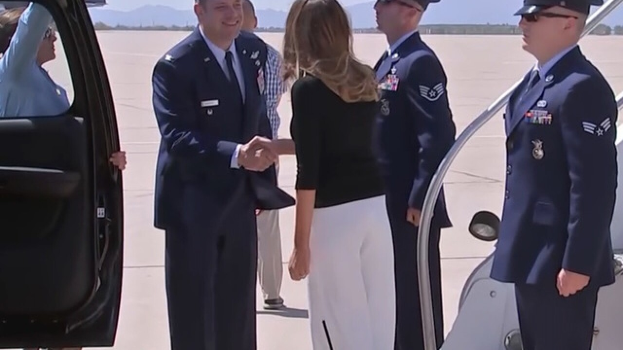 Melania Trump heading back toward border