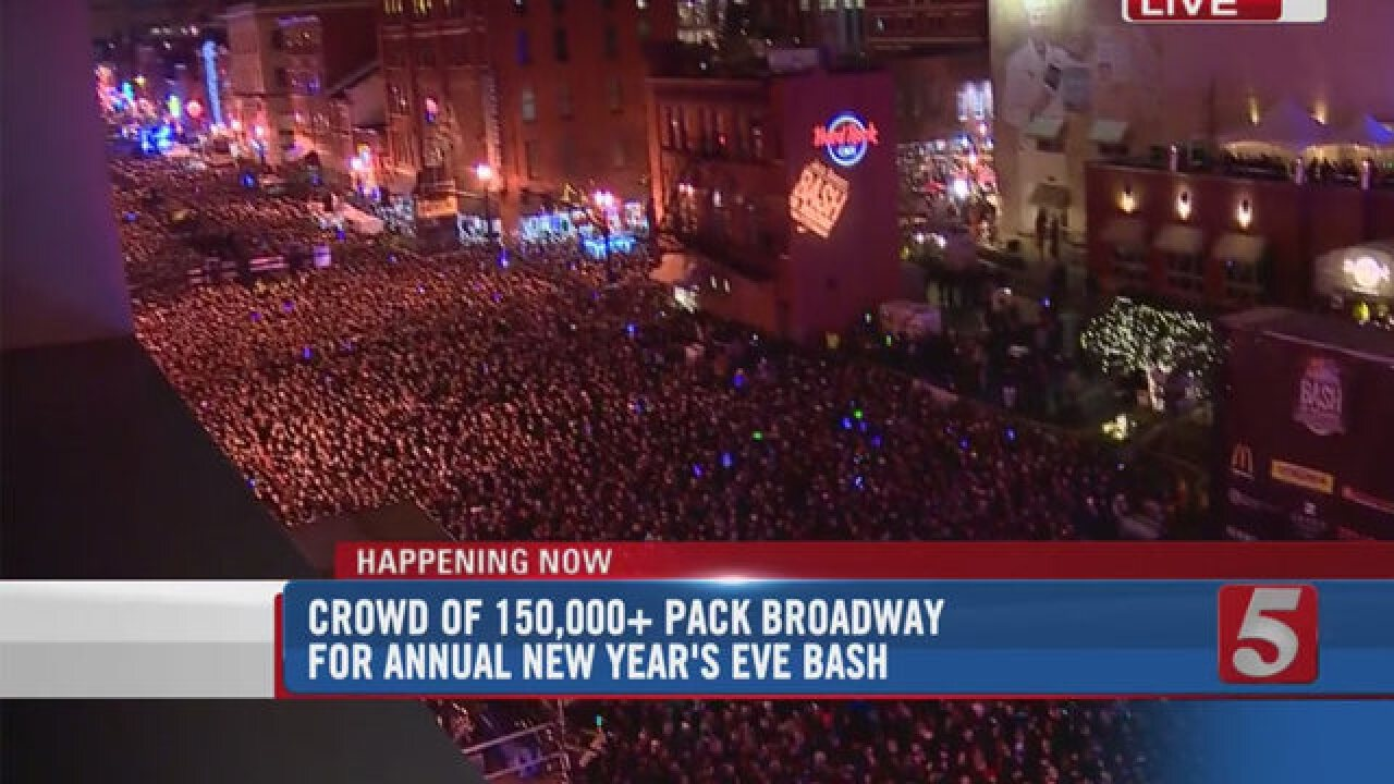 NYE Bash On Broadway Draws Record Crowd