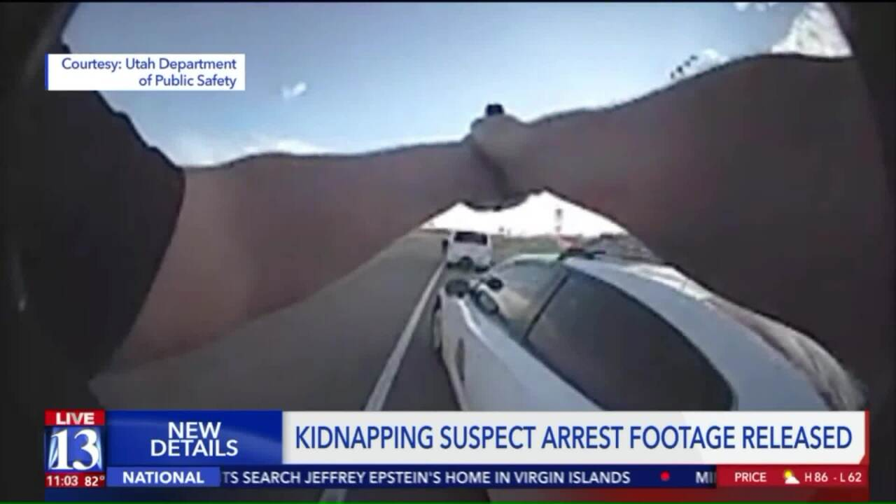 Body cam footage shows Utah troopers arresting suspected California kidnapper, rescuing infant and toddler