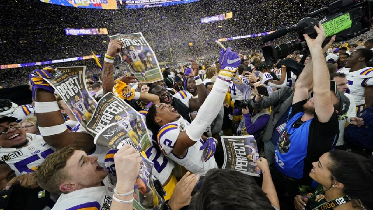 Lsu Finishes No 1 Michigan No 18 In Final Ap Top 25