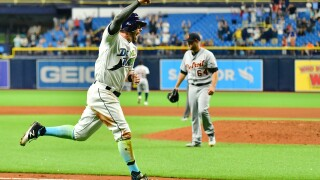 Mike Brosseau's RBI single in 13th lifts Rays past Tigers