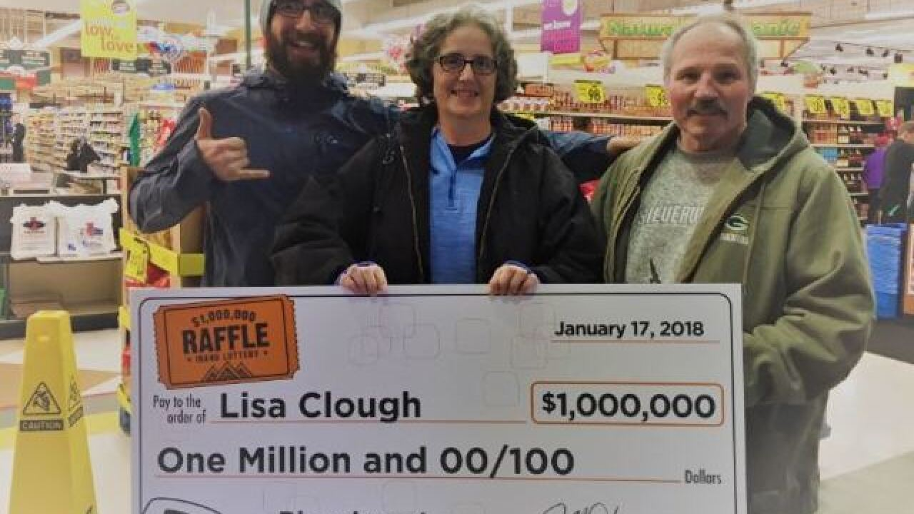 North Idaho woman wins $1,000,000 Lottery