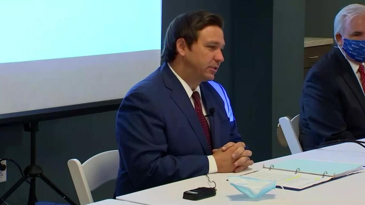 Gov. Ron DeSantis speaks in Miami, July 7, 2020