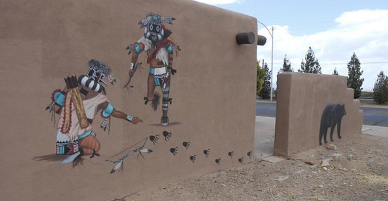 Benson Murals Kachina Dancers