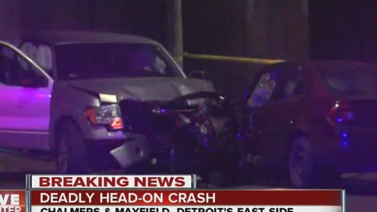 Woman killed in accident on Detroit's east side
