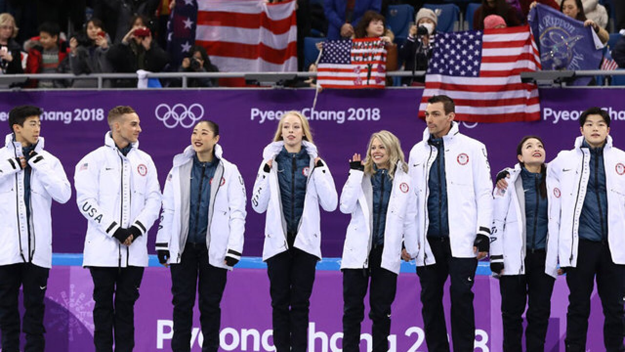 USA snags bronze in figure skating team event