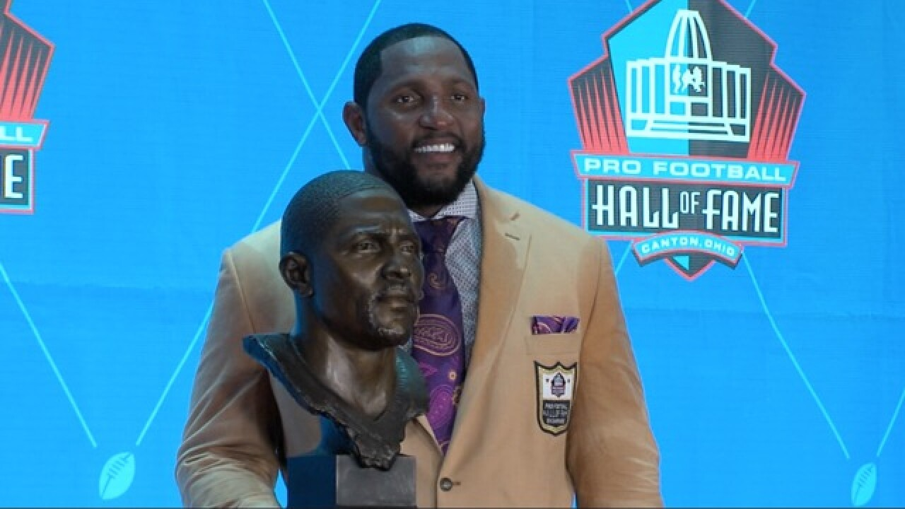 Lewis enshrined into Pro Football Hall of Fame
